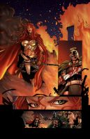 Queen Sonja Page 3 colors by dylanliwanag