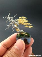 Mini deadwood wire bonsai tree by Ken To by KenToArt