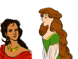 aSoIaF sketches: Marge and Elia by jubah
