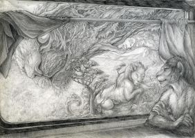 train - WIP pencil by hontor