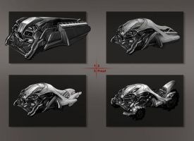 Vehicle design scifi by Panda-Graphics