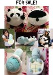 For Sale: Panda or Turtle Plushies by KyuTeeKay