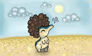 Cyndaquil in afro :D by Kuuurek