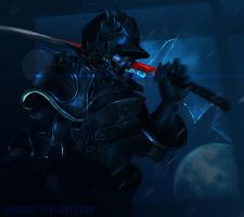 Blue Samurai by Starr-King