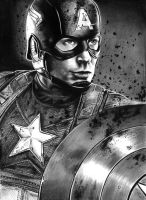 Capitao america by MikeArtsAssis
