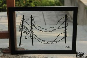 Papercut Art #0026 Barbed wire by ParthKothekar