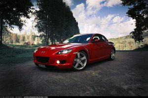Mazda RX8 - at golf course 2 - by dejz0r