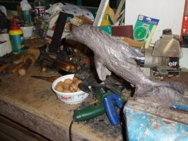 dolphin in progres by woodcarve