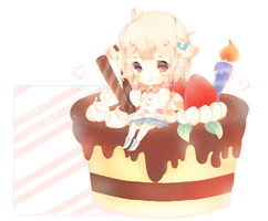 HBD Chibi Comm: Rerolune by MoeMacaron