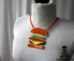 tasty burger necklace 3 by smarmy-clothes
