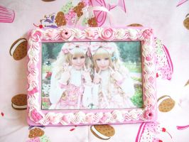 Pink Deco Picture Frame by lessthan3chrissy