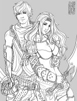 Lowell and Syrenne by juuhanna