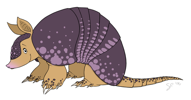 Character Design - Armadillo by shayfifearts