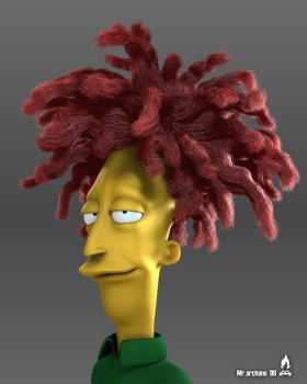 Sideshow Bob from Simpsons by MrArchano