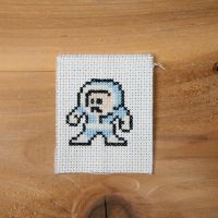 Megaman - Iceman xstitch by flavialee