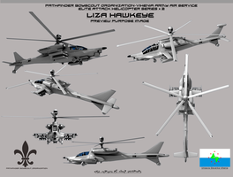 Liza Hawkeye Attack Helicopter by Stealthflanker