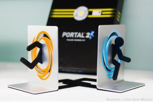 Portal Bookends by knatroka