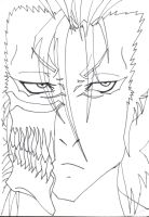Grimmjow face by DJesterS