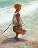 Little Girl Fishing study by XeNzO