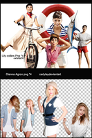 Lily Collins  AND dianna agron png pack by Carlytay