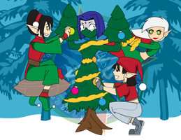 Christmas Elf Virus is Spreading by Dragon-FangX