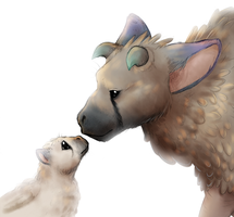 The Last Guardian - Trico and Trico Pup by 9CentsChange