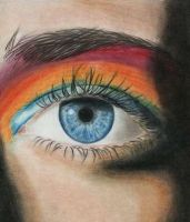 rainbow eye lol by psychobiotch4life