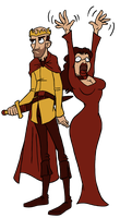Stannis and Melisandre by themovieguru42