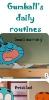 Gumball's Daily Routine by SfinJe