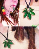 rasta necklace dreads by entemin