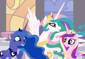 Alicorn Princesses by SelenaEde