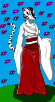 Bella Tigress in her Kimono by auroradragon93
