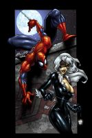 Spidey and Black Cat 2_color by macuy19