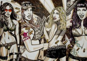 girls and guns by FDupain