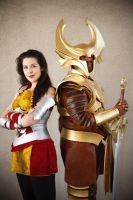 Lady Sif and Heimdall by miss-kitty-j