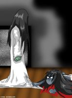 Sadako vs Kayako by crow-skywalker