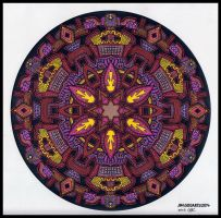 Mandala Jim's Star Mandala Colored By Crazyruthie by crazyruthie