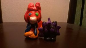 Ginger and Magic clay figures by Microwavedcoffee