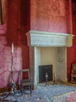 Chateau du Montal 016 - Fireplace by HermitCrabStock