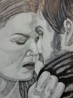 Emma and Hook captain swan OUAT by stellaschmn