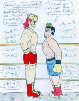 Boxing Duncan vs Human Garble by Jose-Ramiro