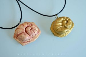 Helix Fossil Twitch Plays Pokemon necklace by AnyShapeNecklaces