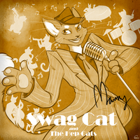 Swag Cat and the Hep Cats - Album Cover by HellLemur