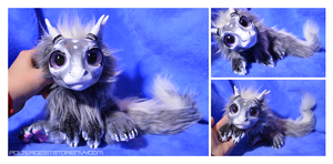 Newborn Gunmetal Drake Doll by Isvoc