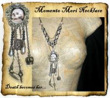 Momento Mori Charm Necklace by grimdeva