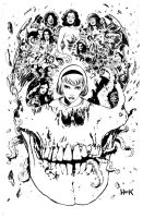 SABRINA #1 cover INKS by RobertHack
