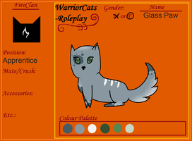 Fireclan Ref: Glasspaw by ChouGirl
