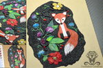 Polymer clay journal cover Fox by Crystarbor