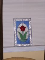 Tulip stained glass panel by PandoraX