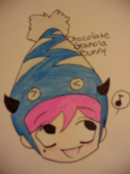 chocolate granola bunny2 by mrssweettooth
